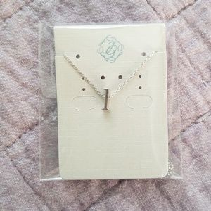 Letter * L * Initial * Silver Necklace